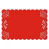 Mantel Rectangular de Fieltro 1pz - Rojo