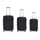 Set 3 Trolleys ABS Engomado, Azul