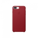 Funda de Piel para iPhone 8 Plus/7 Plus - Rojo