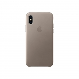 Funda de Piel para iPhone X - Marrón Topo