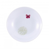 Plato Redondo de Porcelana BRUNCHFIELD Butterfly 1pz - Decorado