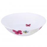 Ensaladera Ovalado de Porcelana BRUNCHFIELD Butterfly 1pz - Decorado