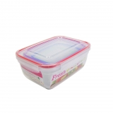 Set de 4 Hermetico Rectangular  0,4-0,8-1,4-2,3  L. - Transparente