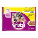 New Generation Whiskas Junior Aves 4x100gr