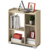 Librería Baja de Melamina CARREFOUR HOME Everest 71x32x82cm. - Roble