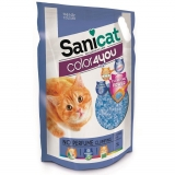Arena para Gatos Sanicat Color4You Azul 5L