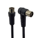 Cable TV M/H 90º 2,5mtrs Prolinx R-2N Negro