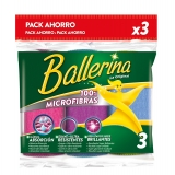 3 Bayetas Multiusos Microfibras collection BALLERINA  - Colores surtidos