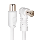 Cable TV M/H 90º Prolinx R-1 1,5mtrs - Blanco