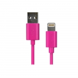 Cable Ideus Datos Lightning para iPhone 5/ 6/ y iPad Mini - Rosa