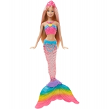 Mattel - Barbie Sirena Luces de Arcoiris