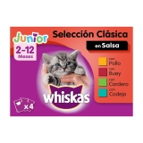 New Generation Whiskas Junior Carnes 4x100gr