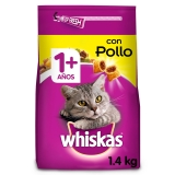 Whiskas Seco Adulto 1+ de Pollo 1400gr