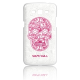 Funda Gel Samsung Galaxy Grand 2 Becool Calavera De Azúcar Blanca