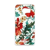 Funda Gel Samsung Galaxy S6 Edge Becool Flowers Collection Vintage White