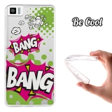Funda Gel Bq Aquaris M4.5 Becool Comic Style Bang Bang