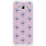 Funda Gel Samsung Galaxy A8 Becool Flamingo Rosa