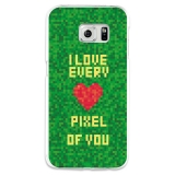Funda Gel Samsung Galaxy S6 Edge Becool I Love Every Pixel Of You