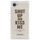 Funda Gel Zte Blade A450 Becool Shut Up And Kiss Me