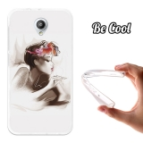 Funda Gel Flexible Tpu Para Vodafone Smart Prime 7 Retrato Mujer Retro - Becool®