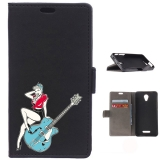 Funda Carcasa Tipo Libro Para Alcatel Pop 4 Plus Chica Pin Up Con Guitarra - Becool®