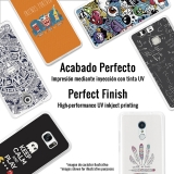 Funda Gel Flexible Tpu Para Iphone 7 Rayas Doradas Y Blancas - Becool®