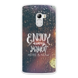 Funda Gel Flexible Tpu Para Lenovo K4 Note Disfruta Cada Momento - Becool®