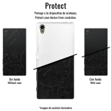 Funda Gel Flexible Tpu Para Doogee X3 Mármol Negro Y Blanco - Becool®