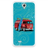 Funda Gel Flexible Tpu Para Lenovo A850 Caravana De Surf - Becool®