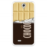 Funda Gel Flexible Tpu Para Lenovo A850 Tableta De Chocolate Blanco - Becool®