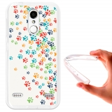 Funda Gel Flexible Tpu Para Zte Blade X5 Huellas Coloridas De Perro  - Becool®