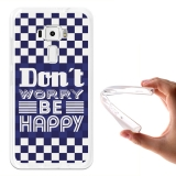 Becool® - Fundas Gel Don't Worry, Be Happy Para Asus Zenfone 3 Ze520kl