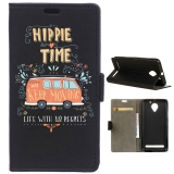 Becool® - Funda Libro Caravana Hippie Para Lenovo C2 Power