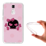 Funda Gel Flexible Tpu Para Zte Blade A610 Plus Calavera Rosa - Becool®