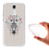 Funda Gel Flexible Tpu Para Zte Blade A610 Plus Cebra Azteca - Becool®