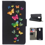 Becool® - Funda Libro Mariposas Coloridas Volando Para Bq Aquaris U Plus