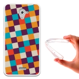 Becool ® - Funda Gel A Cuadros Para Wiko U Feel Fab
