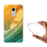 Becool ® - Funda Gel Ola De Colores Para Xiaomi Redmi Note 4x