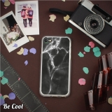 Becool ® - Funda Gel Mármol Negro Y Blanco Para Alcatel A5 Led