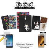 Becool ® - Funda Gel Gato Naranja Y Rosa Para Alcatel A5 Led
