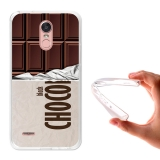 Becool® - Fundas Gel Tableta De Chocolate Negro Para Lg Stylus 3