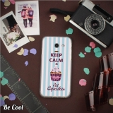 Becool® - Fundas Gel Keep Calm And Eat Cupcakes Para Samsung Galaxy J5 2017