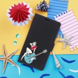 German Tech® - Funda Libro Chica Pin Up Con Guitarra Para Motorola Moto C Plus