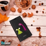 Funda Libro Alcatel A3 Plus. Dos Monstruos - Becool®