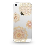 Funda Caseland Vitrales Oro Apple Iphone 5/5s Flexible
