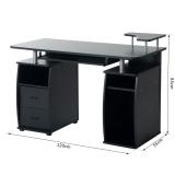 Mesa de escritorio para ordenador mobiliario de despacho for Mesa ordenador carrefour