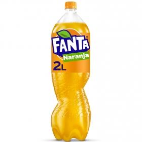 Refresco de naranja Fanta con gas botella 2 l.