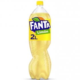 Refresco de limón Fanta con gas botella 2 l.