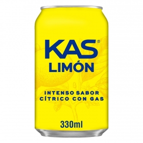 Refresco de limón Kas con gas lata 33 cl.