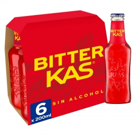 Bitter Kas sin alcohol pack de 6 botellas de 20 cl.